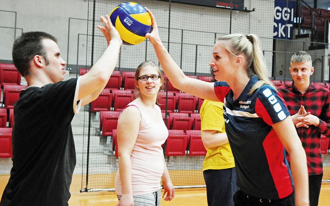 Filmdreh mit Volleyballprofis