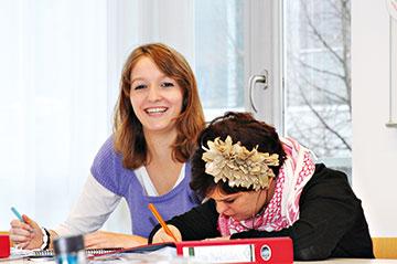 Die Berufsvorbereitung im Rahmen der BvB findet auch im Kurs statt.