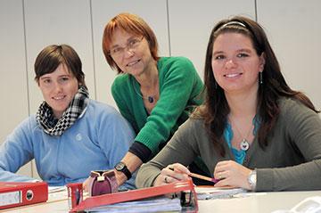 Zur Fördergruppe gehört auch die schulische Förderung im Kurs