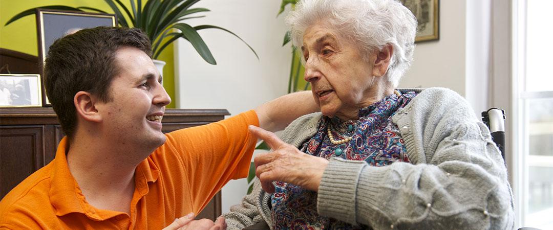 Im Seniorenzentrum des Anna Haag Mehrgenerationenhauses leben 84 Seniorinnen und Senioren.