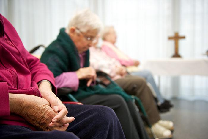 Gottesdienst für die Bewohner/innen des Seniorenzentrums